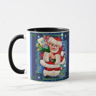 SANTA BEAR CHRISTMAS 15 oz Ringer Combo Mug 2