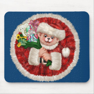 SANTA BEAR CHRISTMAS CARTOON MOUSE PAD