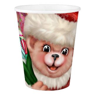 SANTA BEAR CHRISTMAS CARTOON Paper cup