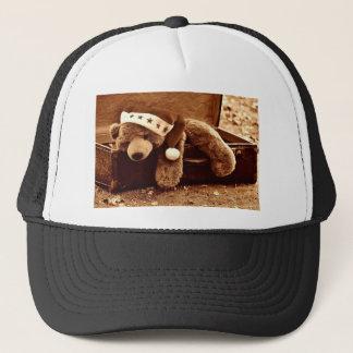 Santa bear trucker hat