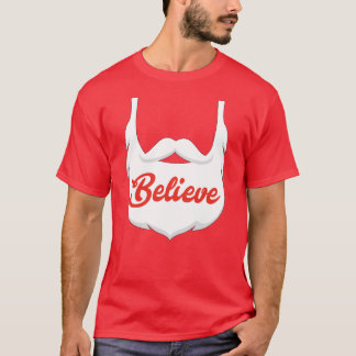 Santa Believe Beard T-Shirt