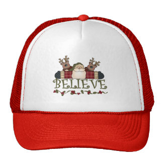 Santa Believe T-shirts and Gifts Mesh Hats