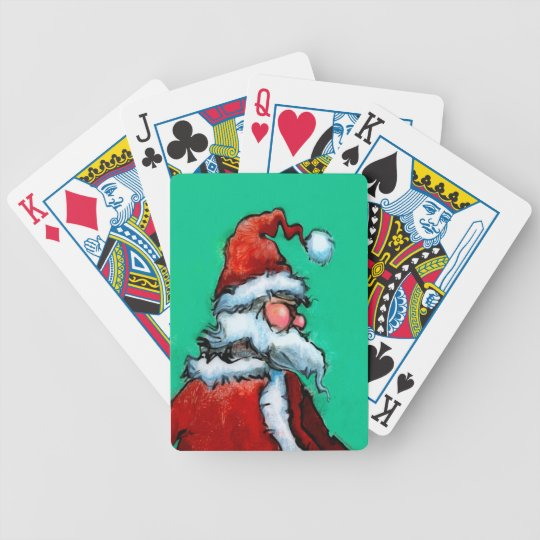 Santa Bicycle Playing Cards