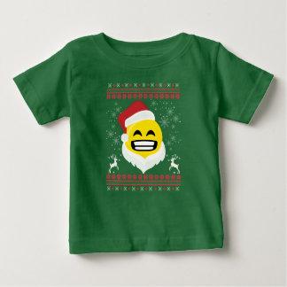 Santa Big Smile Emoji  TIshirt Ugly Christmas Gift Baby T-Shirt