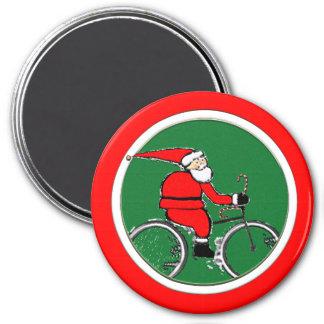 Santa Biking Magnet
