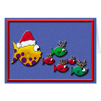 Santa Blowfish Card