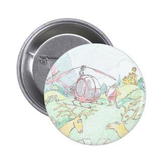 Santa bran new ride! Round badge. 6 Cm Round Badge