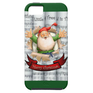 Santa Breakthrough ~ Rolled Christmas Sheet Music iPhone 5 Cover