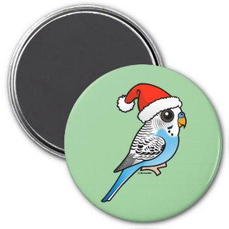 Santa Budgie Blue Magnet