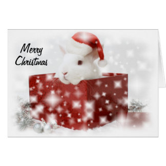 santa bunny christmas card