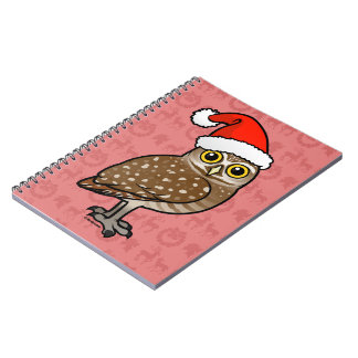 Santa Burrowing Owl Spiral Notebook