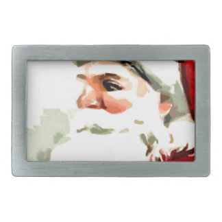 Santa Cane Rectangular Belt Buckles