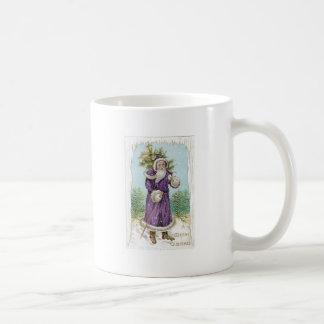 Santa carrying a Christmas Tree Coffee Mug
