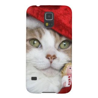 Santa cat - christmas cat - cute kittens cases for galaxy s5