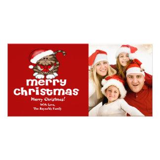 Santa Cat Christmas Photo Card