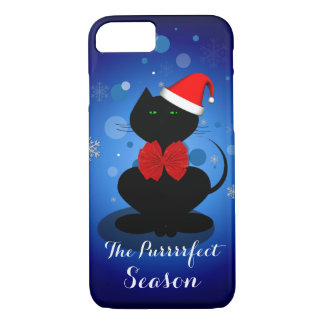 Santa cat customizable text iPhone 7 plus case