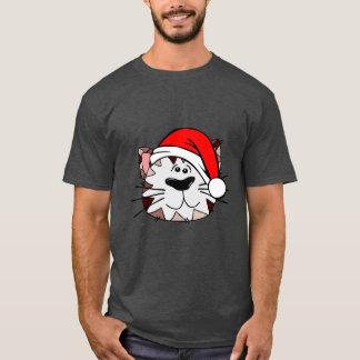 Santa Cat Men's Basic Dark T-Shirt
