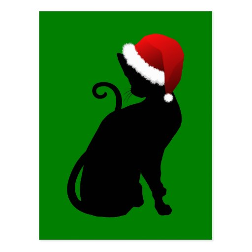 Santa Cat Postcards