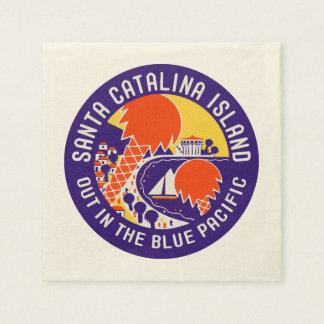 Santa Catalina Island Vintage Design Paper Napkin