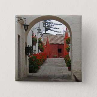 Santa Catalina Monastery in Arequipa Peru 15 Cm Square Badge