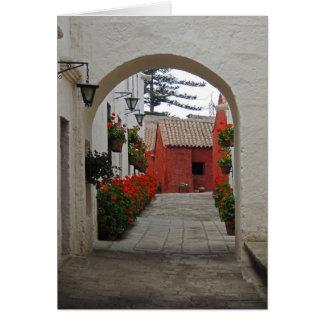 Santa Catalina Monastery in Arequipa Peru Card