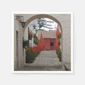 Santa Catalina Monastery in Arequipa Peru Paper Napkin