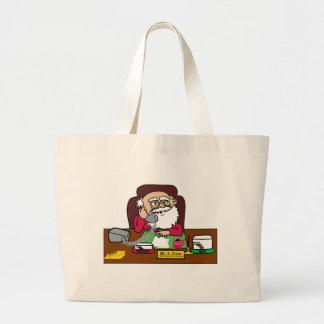 Santa CEO Large Tote Bag
