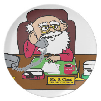 Santa CEO Plate