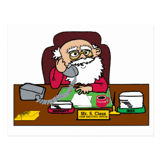 Santa CEO Postcard