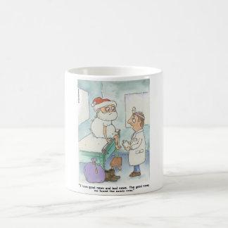 Santa Check Up Coffee Mug