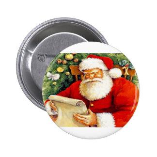 Santa Checking His List Buttons