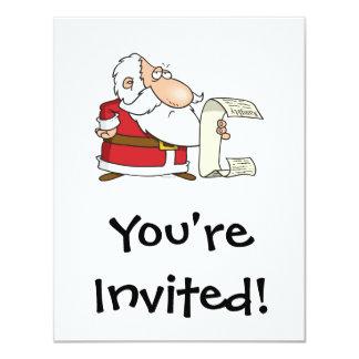 santa checking the naughty list 11 cm x 14 cm invitation card