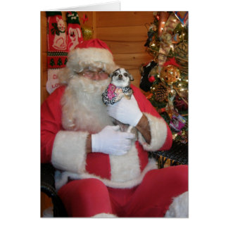 Santa & Chihuahua Greeting Card