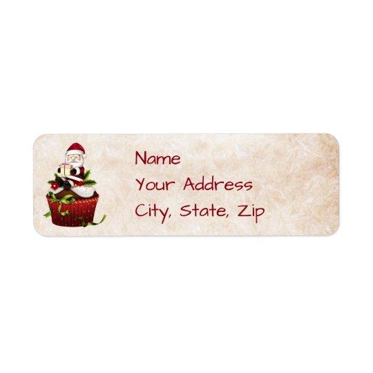 Santa Christmas Address Label
