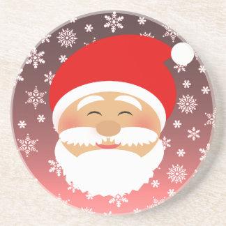 Santa Christmas Cartoon Cute Lovely Beautiful Snow Coaster