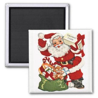 Santa & Christmas Cheer Vintage Magnet