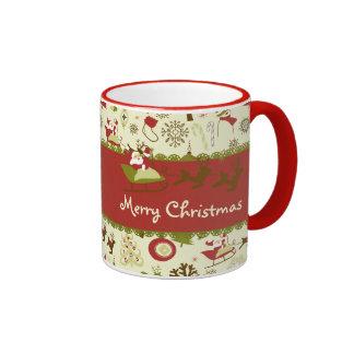 Santa Christmas Delivery Ringer Mug