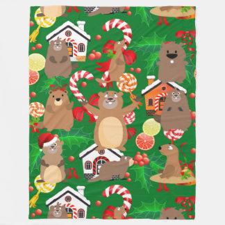 Santa christmas gopher blanket