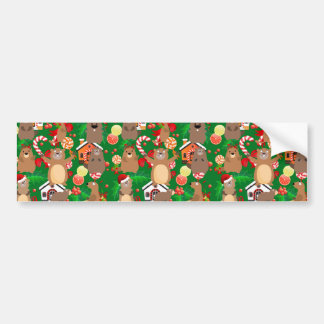 Santa christmas gopher bumper sticker