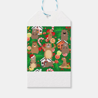 Santa christmas gopher gift tags