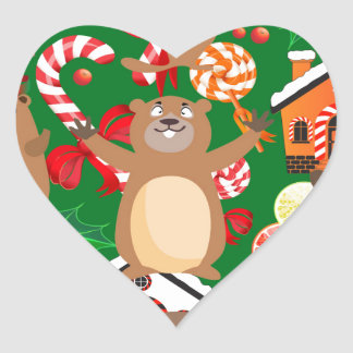 Santa christmas gopher heart sticker