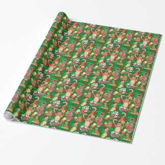 Santa christmas gopher wrapping paper