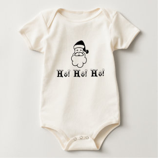 Santa Christmas Ho! Ho! Ho! Holiday Baby Shirt