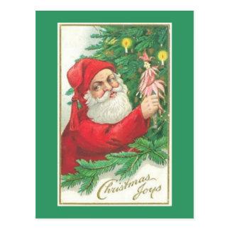 Santa Christmas Joy Postcards