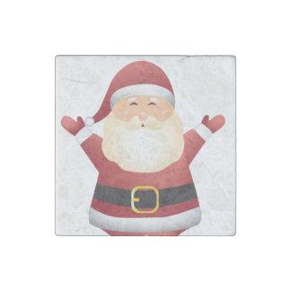 Santa Christmas Magnet- Kitchen Decoration or Gift Stone Magnet