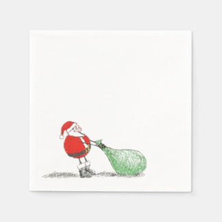 Santa Christmas Napkin Disposable Serviette