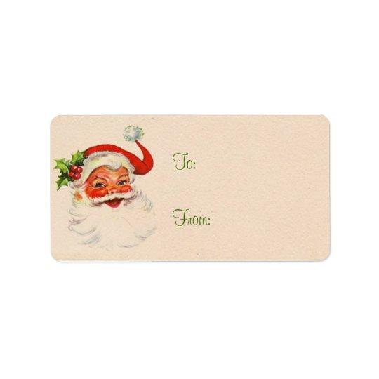 Santa Christmas Present Labels