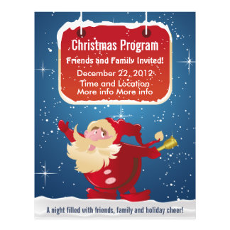 Santa Christmas Program Flyer