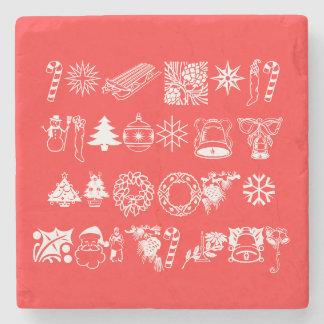 Santa Christmas Snowflake Winter Peace Destiny Stone Beverage Coaster