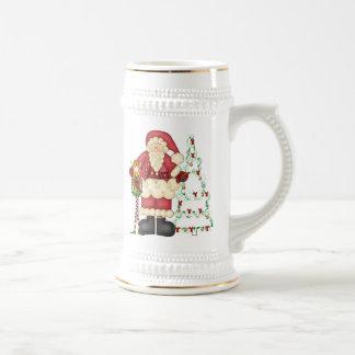 Santa Christmas Stein Mug
